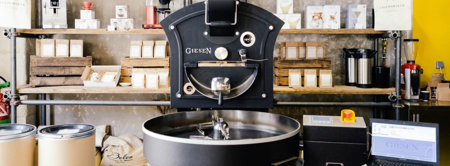 Барабанный ростер - машина для обжарки кофе