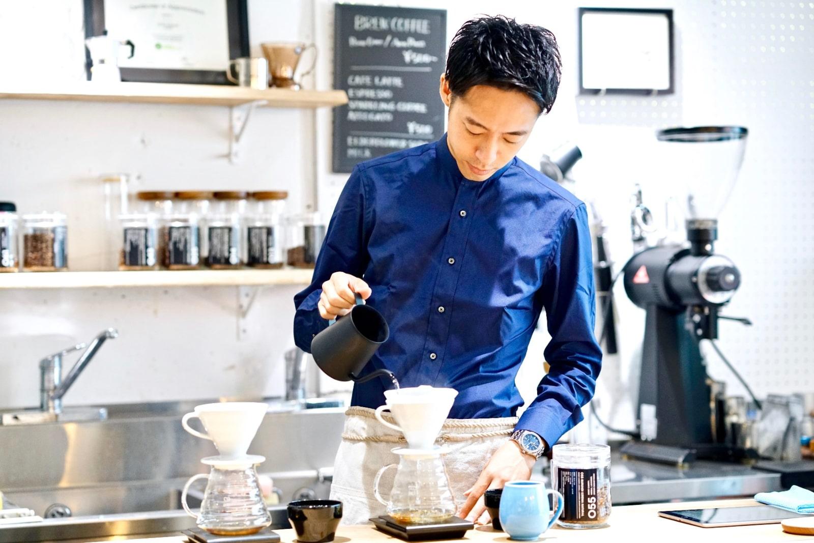 Заваривание кофе в воронке от Tetsu Kasuya