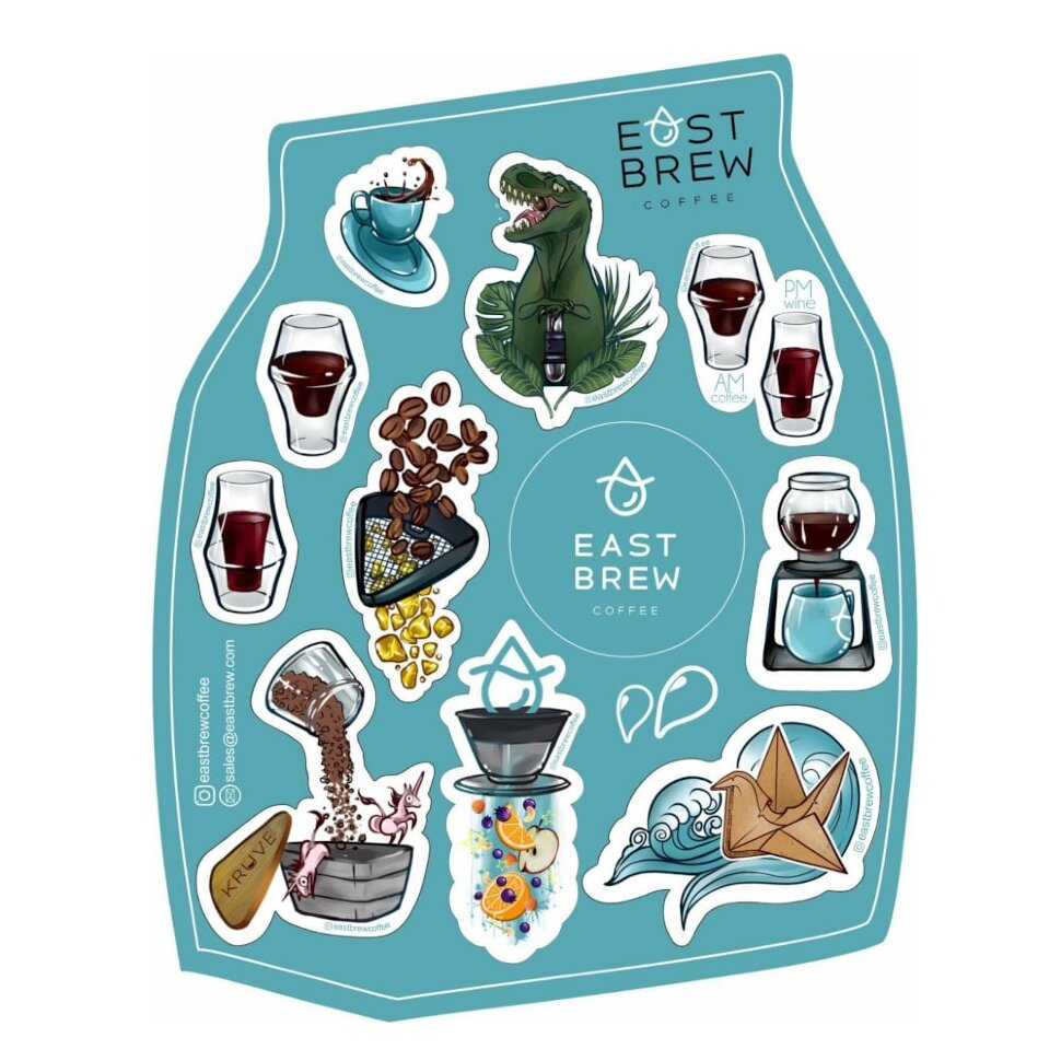 Sticker pack Eastbrew Coffee фото 1 — Eastbrew Coffee
